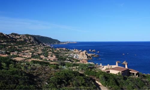 Vista sul villaggio Costa Paradiso Sardegna